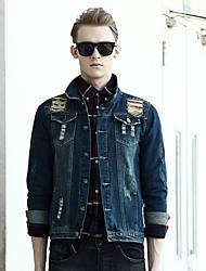 In the autumn of 2015 new men's denim jacket slim Jeans Mens Korean male long sleeved jacket tide