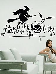 pegatinas de pared de estilo calcomanías de pared pegatinas bruja de halloween pvc