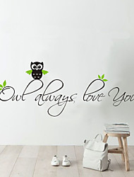 Wall Stickers Wall Decals, Home Decoration Owl Quotes Nursery PVC Mural Wall Stickers