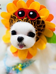 Cat / Dog Costume / Bandanas & Hats Yellow Dog Clothes Summer / Spring/Fall Flower Cosplay / Holiday