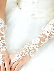 Elbow Length Fingerless Glove Lace Bridal Gloves