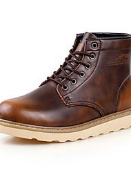 Sapatos Masculinos Botas Preto / Marrom / Vermelho Couro Casual