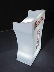 mobilier de bureau d'accueil de la parole de table en plastique moderne avec changement de 16 couleurs
