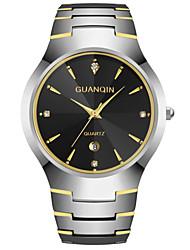GUANQIN Tungsten Steel Men Quartz Watches Scratch Resistance Waterproof Men Simple Luxury Casual Wristwatch
