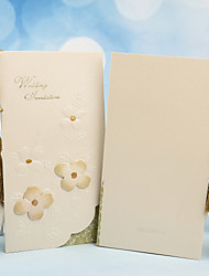 Personalized Tri-Fold Wedding Invitations Invitation Cards-50 Piece/Set Pearl Paper Tassels