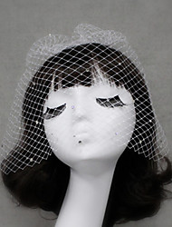 Wedding Rhinestones Veil One-tier Blusher Veils/Veils for Short Hair Cut Edge
