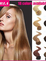 "100pc/lot 18"" Peruvian Hair Extension U Tip  Human Hair Extension 0.5g/strand Straight Nail Hair Extension"