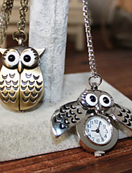 Man And Wwoman Quartz Owl Pocket Watch Wrist Watch Cool Watch Unique Watch