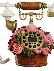 nouveauté rurale mode créative panier de fleur antique téléphone décorative