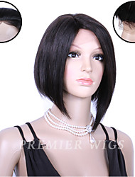 Premierwigs Wholesale 8''Capless Wigs Indian Remy Human Hair Wigs Lace Front Wigs With Baby Hair For Black Women