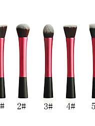 Powder Blush Blusher Foundation Contour Makeup Brushes Set Cosmetic Tool(Pink)