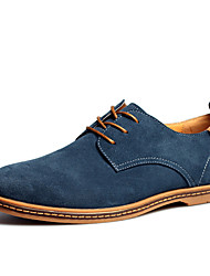 Top.1 Men's Shoes Black/Blue/Brown/Green/Grey/Camel/Khaki Under 1in Oxfords (Suede)