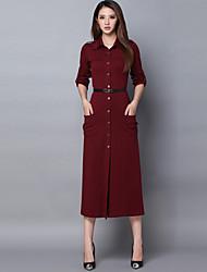 Robes ( Coton ) Vintage / Travail Support à Manches longues pour Femme