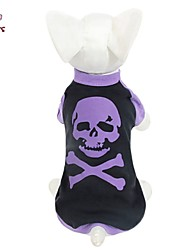 Cat / Dog Shirt / T-Shirt Purple Dog Clothes Summer Skulls Wedding / Cosplay