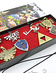 Jewelry Inspired by The Legend of Zelda Cosplay Anime/ Video Games Cosplay Accessories Necklace / Brooch Silver Alloy Male / Female