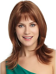 Fashionable Sweet Brown Synthetic Hair Wigs