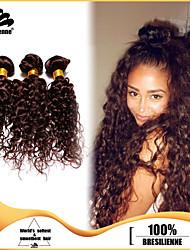 3pcs Brazilian Hair Bundles Weaves Dark Brown Deep Curl Hair Weft 100% Unprocessed Brazilian Human Hair Weft