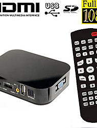 RSH™ VGA output MIni Full HD1080P Media Player with HDMI/AV/SD/USB H.264 hevc Hard Disk with Display HD Media player
