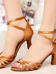 Sapatos de Dança ( Preto/Castanho/Outro ) - Mulheres - Customizáveis - Latim