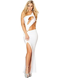 Women's Solid Color White / Black Dresses , Party Mid Rise Sleeveless