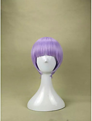 Capless Fashion  Light Purple Bob Wig  Short Straight Synthetic Hair Wig for  Party Wig and Daily Life