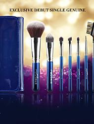 MSQ® 7pcs Makeup Brushes set Bristle/Goat/Wool Hair Hypoallergenic/Limits bacteria Fiber Blue Blush brush Shadow Brush Lip/Brow Brush Makeup Kit