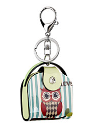 2016 Acrylic Key Chain High-grade Cartoon Owl Painting Jewelry Handbag Car Keychain Women Holder Key Ring Wholesale Gift