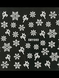 3D Christmas Snowflake Deer Nail Art Stickers