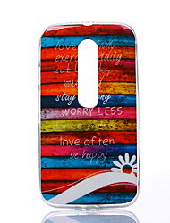 Colors of Rainbow Pattern TPU Soft Case for Motorola Moto G3