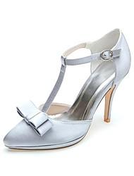 Wedding Shoes - Saltos - Saltos / Bico Fino - Preto / Azul / Rosa / Roxo / Marfim / Branco / Prateado - Feminino -Casamento / Festas &
