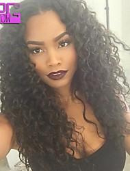 preço barato 130% de densidade encaracolado brasileiro do cabelo humano peruca completa do laço virgem para as mulheres negras