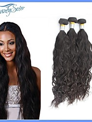 Peruvian Virgin Hair Natural Wave Hair Weaves 3Pieces Lot Grade7A Natural Color Unprocessed Human Hair Extensions