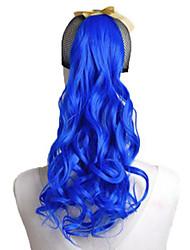 High Quality Fashion Blue Hair Curls Ponytail Wigs