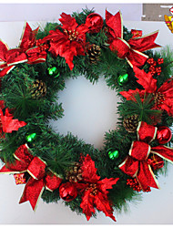 "55CM/22"" Luxury Christmas Party Pine Cones Wreath Door Wall Decoration"