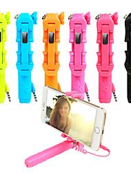 Mini suprema 5 regalo secreto estilo de la flor del jardín selfie cable stick