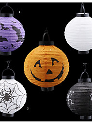 Fun Halloween Pumpkin Paper Bar  Lantern Home Decorations