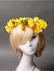 Women's / Flower Girl's Fabric Headpiece - Wedding / Special Occasion / Casual Wreaths 1 Piece