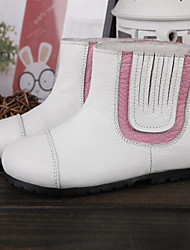 Girls' Shoes  Dress Casual Riding Boots / Fashion Boots Comfort Round Toe Leather Boots  More Colors Available
