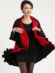 Women New Arrival Large Size All Match Color Block Shawl & Wrap , Lined