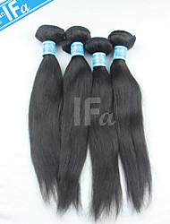 Human Hair Extension 4Pcs/Lot Malaysian Virgin Hair Straight hair weaving Color 1B