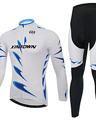 XINTOWN® Cycling Jersey with Tights Men's Long Sleeve Bike Breathable / Moisture Permeability / Reflective Strips / Back PocketArm
