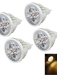 4W GU5.3(MR16) LED Spot Lampen MR16 4 High Power LED 320 lm Warmes Weiß Dekorativ DC 12 V 4 Stück