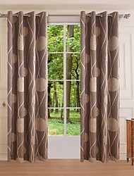 One Panel Modern Geometric Bedroom Birds Polyester Panel Curtains Drapes