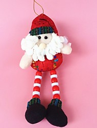 "26CM/10"" Christmas Decoration Gift Hanging Santa Claus Doll Plush Toy New Year Gift"