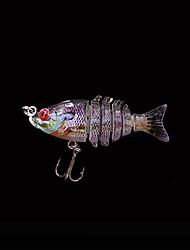 1 штук Жесткая наживка / Рыболовная приманка Жесткая наживка Фиолетовый 2.2 г Унция,50 mm дюймовый,Жесткие пластиковые Морское рыболовство