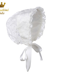 Flower Royal Christening Bonnet Handmade White (Newborn - 3 Years)