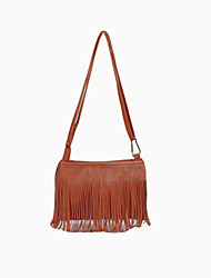 Women Mini Shoulder Bag PU Leather Tassel Fringe Satchel Crossbody Messenger Bag