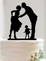 2016 NEW Event Party Supplies Accessory Fondant Cake Decorating Tools Personalized Family Silhouette Acrylic Cake Topper