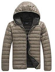 Lesmart Hombre Escote Chino Manga Larga Abajo y abrigos esquimales Azul / Azul marino / Verde / Color Beige - EX13327