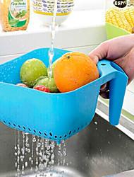 armazenamento da cozinha cestas legumes coloridos cesta de frutas cesta de drenagem de frutas e legumes de cor aleatória